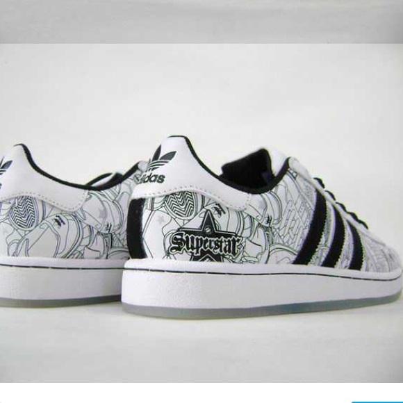 adidas Men Superstar Graffiti Las Vegas Trainers
